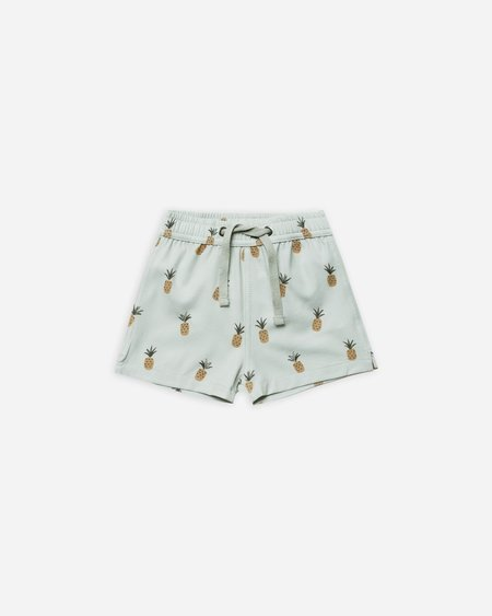 Kids Rylee + Cru Pineapples Swim Trunk - Seafoam