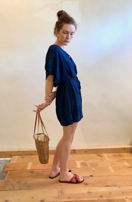 Osei-Duro Toss Kimono Dress - Natural Indigo