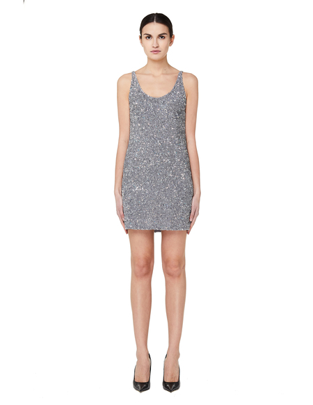 Ashish Sequin Mini Dress - Silver