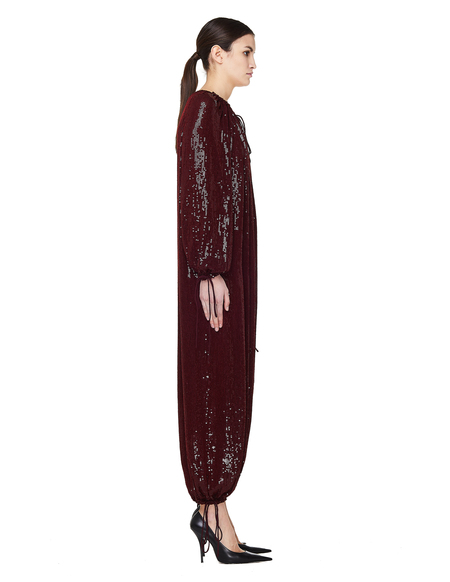 Ashish Sequined Jumpsuit - Burgundy