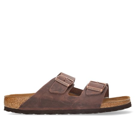 Unisex Birkenstock Arizona Soft Footbed Oiled Leather Sandal - Habana