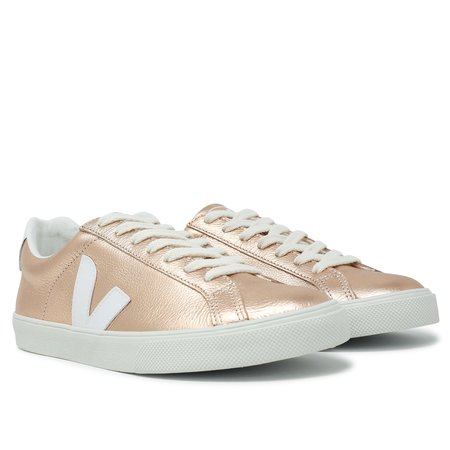 VEJA Esplar Low Logo Leather Sneakers - Venus White
