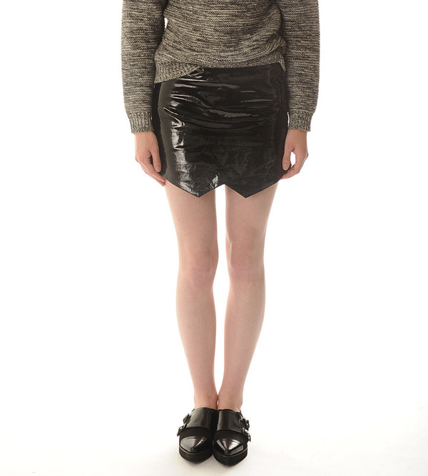 Mason By Michelle Mason Patent Leather Mini Skirt