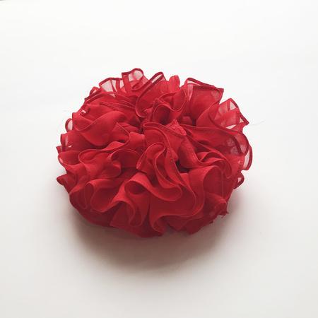 Maryam Nassir Zadeh Carnation Scrunchie in Ruby