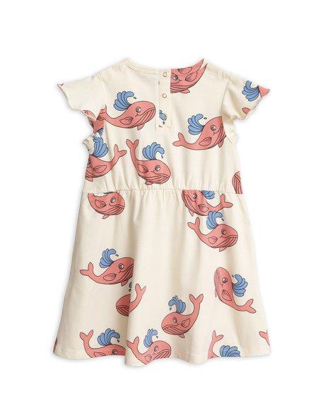 Kids Mini Rodini Whale Wing Dress - Pink