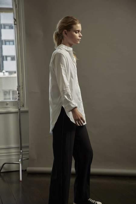 Mina Cotton Sander Shirt - Undyed Wool