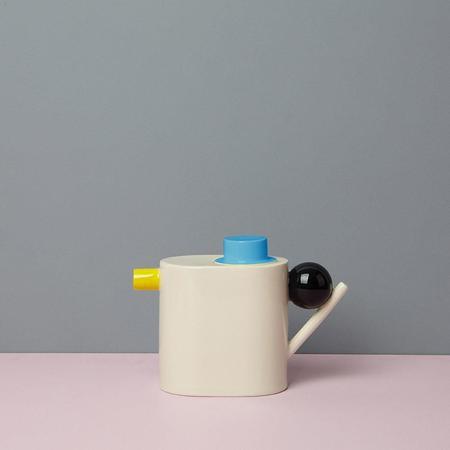 DesignK THÉIÈRE GÉOMÉTRIQUE - BLUE/YELLOW