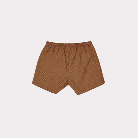 KIDS Caramel Laurus Swim Short - Burnt Orange Check