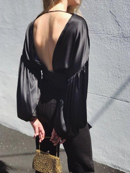 BEFORE MARCH Madeleine Silk Blouse - Black