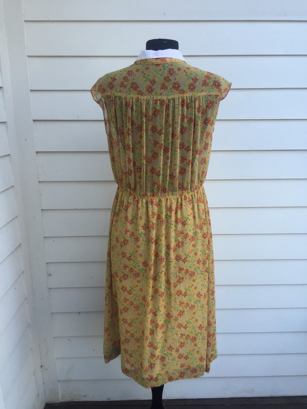 Japanese 70's floral sleevless summer dress size XL