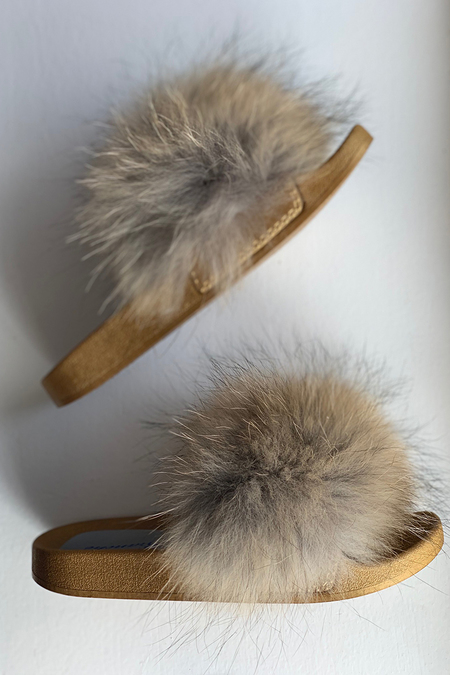 Branché Fur Slides - Natural