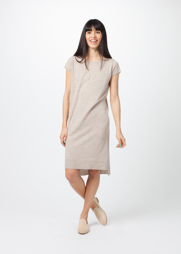 Organic by John Patrick Cap Sleeve Sweater Dress