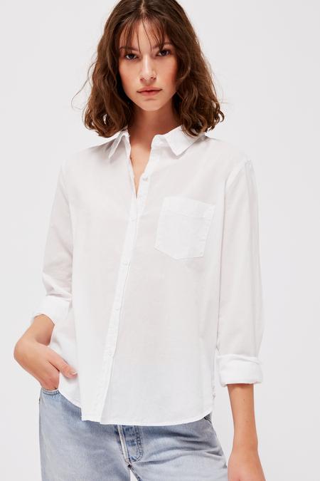 Lacausa Parker Button Up in Whitewash Vera Cotton