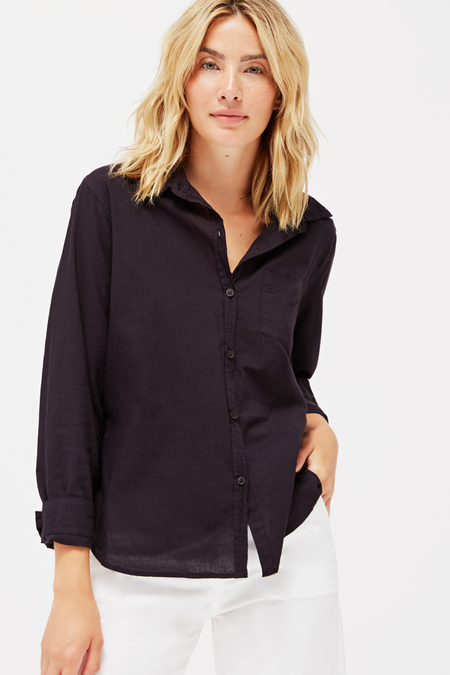 Lacausa Parker Button Up in Tar
