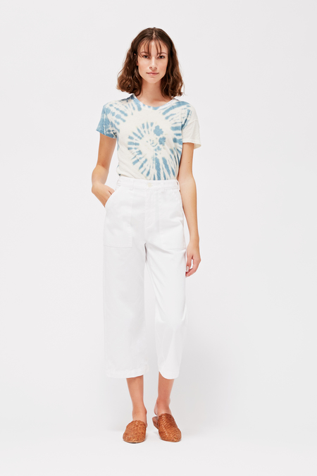 Lacausa Brushed Stella Trousers in Whitewash