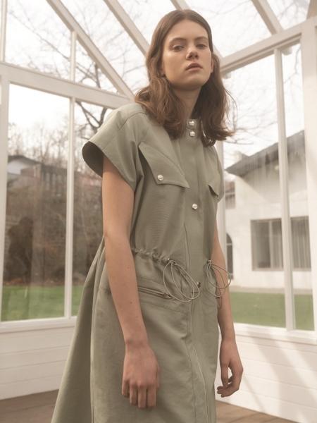 Hasto  Gran String Detail Dress - Mint