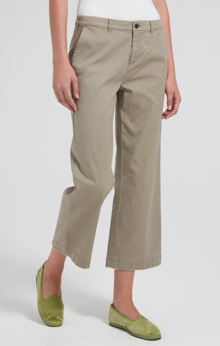 ATM Cropped boyfriend garment wash pants - Faded Sage