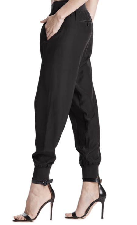ATM silk sweatpants - Black
