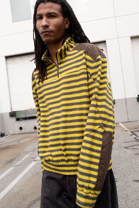 PHIPPS Half Zip Striped Trekking Fleece Sweatshirt