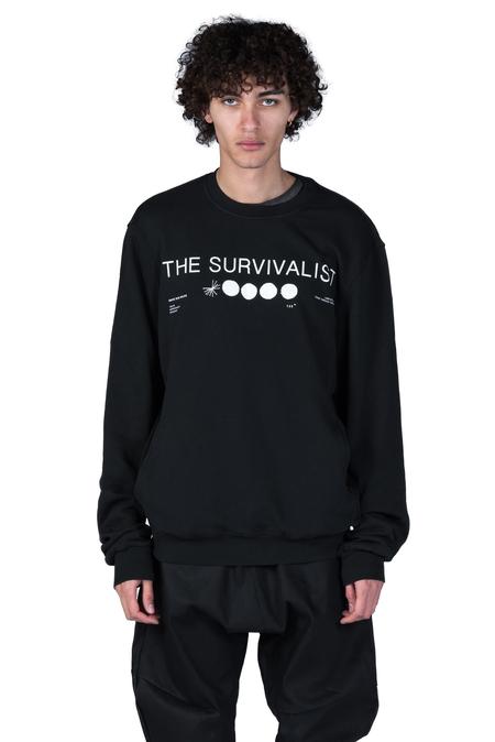 Tobias Birk Nielsen Semyon Serigraphy Sweatshirt - Black