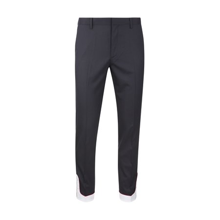 JohnUNDERCOVER Contrast Cuff Button Pants - Navy