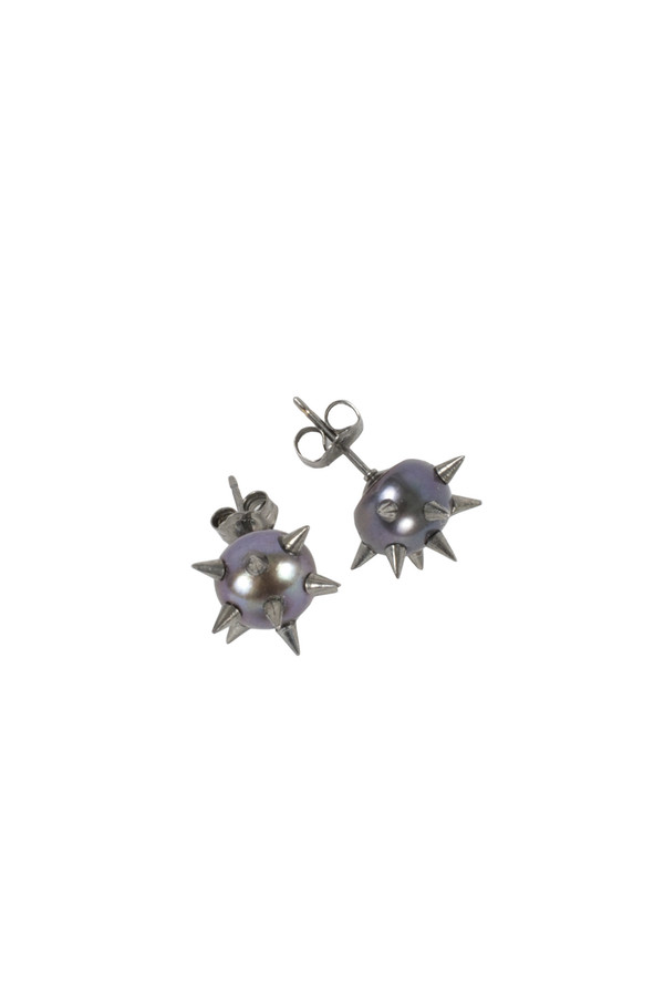 Nektar de Stagni Black 'Bad' Pearl Earrings