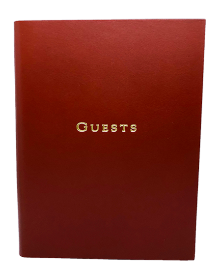 Graphic Image, Inc Leather GUEST BOOK - OX BLOOD