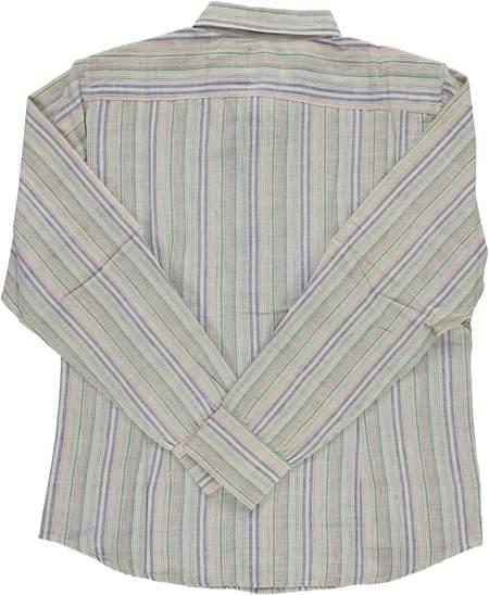 Dushyant Asthana Hand-Loomed Amir Full-Sleeve Shirt - Multi-Color Stripes