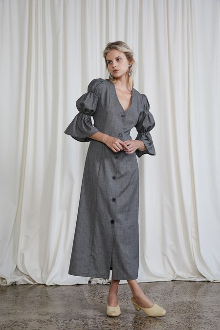OVNA OVICH Italian Wool Kahlo Dress - Slate