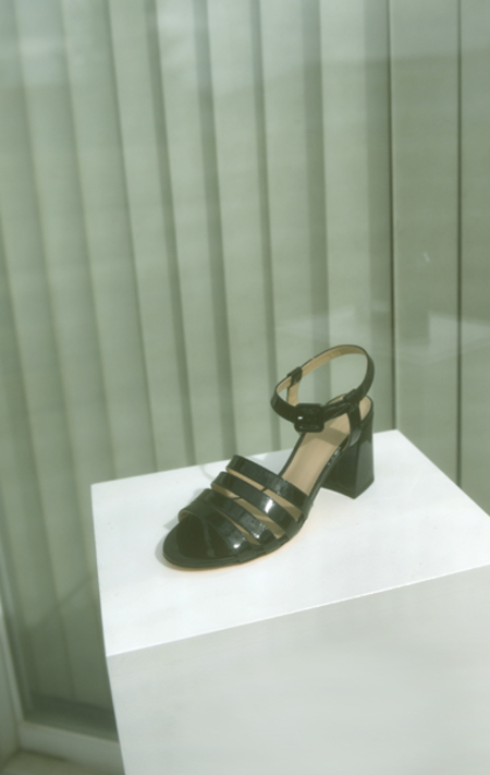 Maryam Nassir Zadeh Palma High Sandal - Black Patent