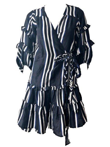 ... Apiece Apart Zarza Ruffle Wrap Mini Dress - Prado Stripe 7604af997