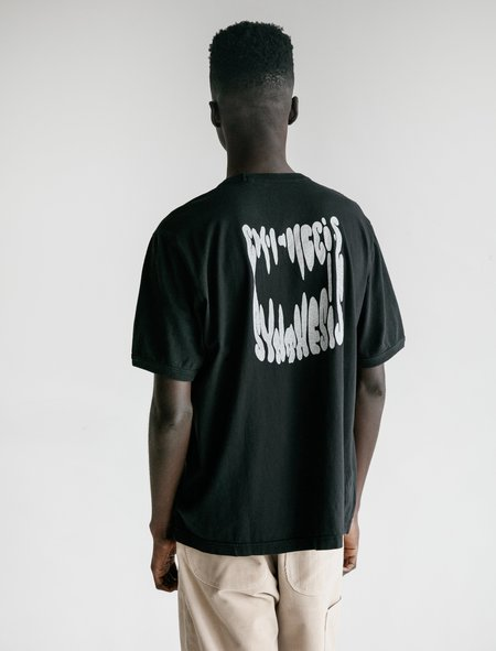 Our Legacy Borrowed V-Neck Tee - Synthesis Print