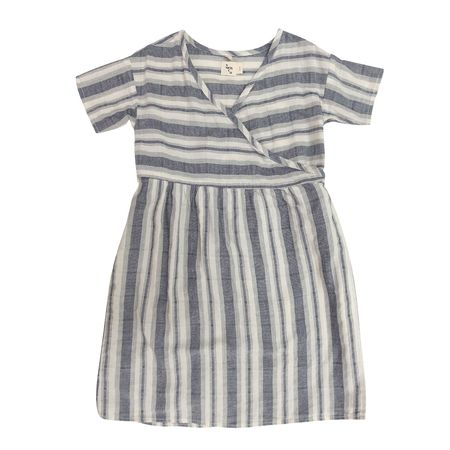 Kids Nico Nico Clothing Melody Wrap Dress - Natural Stripe