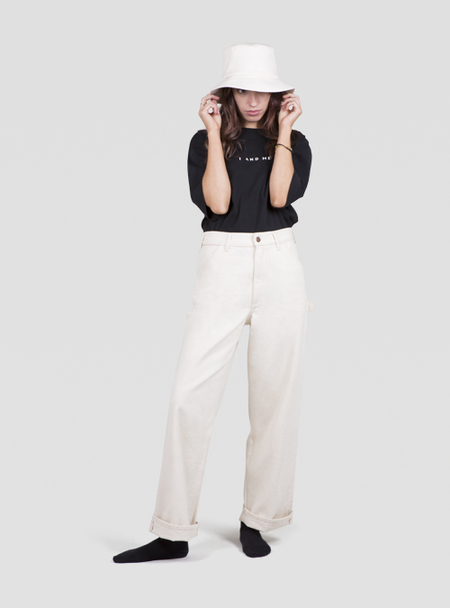 I AND ME Selvedge Painters Pants - Nude