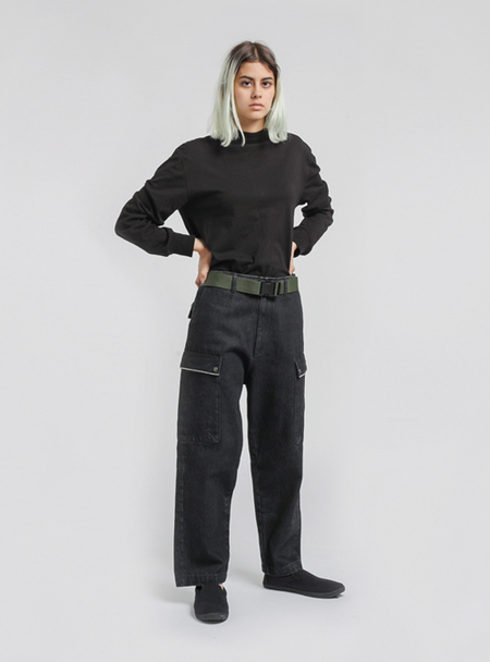 I AND ME Selvedge Drill Pants - Black