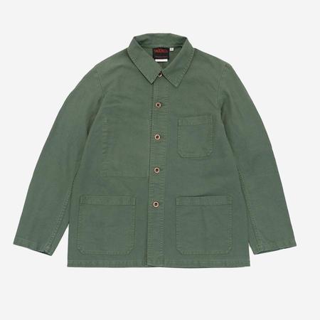 Vetra Dungaree Twill Workwear Chore Jacket - Jade