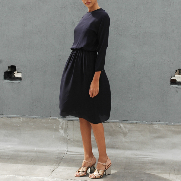 Nikki Chasin Isa Long Sleeve Dress- Navy