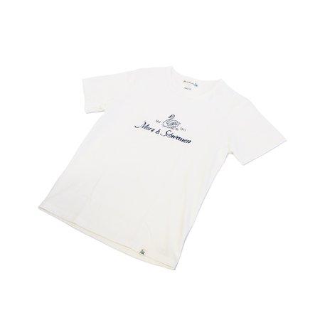 Merz b. Schwanen 215MBS - Indigo Print/White