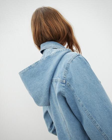 Nanushka MOJAVE Cropped boxy jacket with hood - 80'S Wash