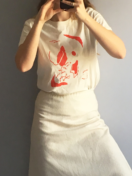 frnds of ours Alexandra tee - Cream