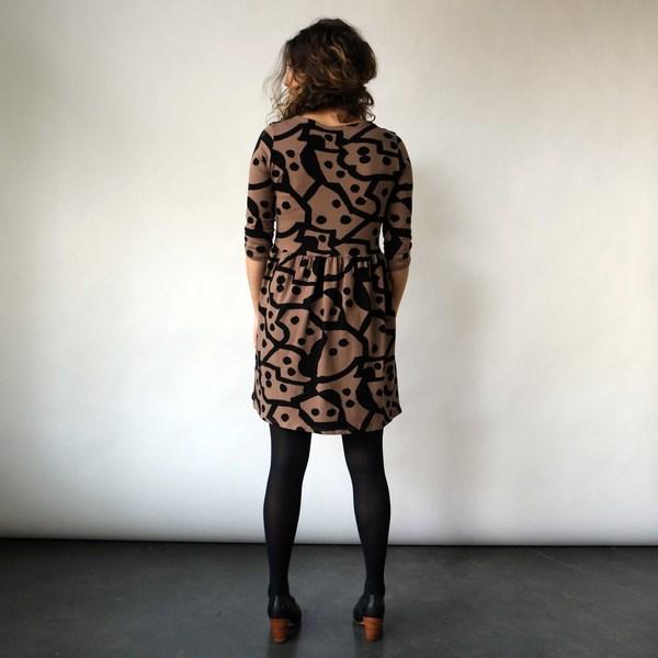Daphne Dress in Domino Print