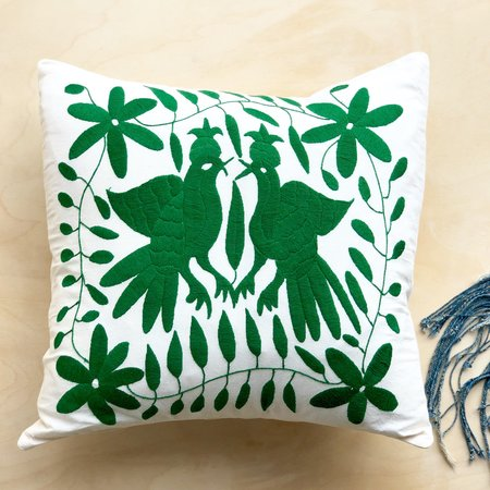 Kin and Kind Otomi Pillow - Kelly Green