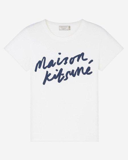 Maison Kitsune Handwriting Tee - Latte