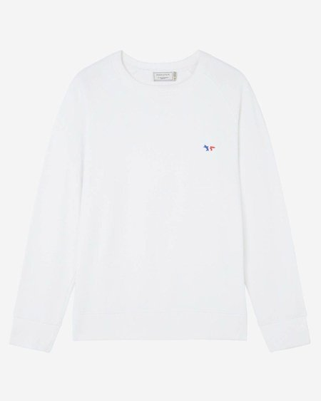 Maison Kitsune Tricolor Fox Sweatshirt - White