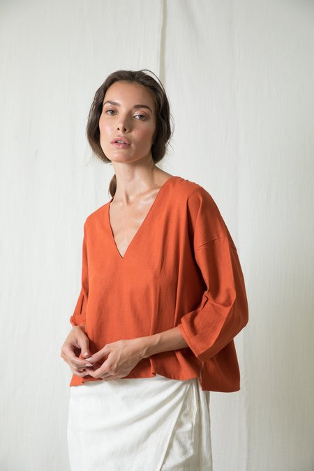 at Dawn. Puff Sleeve Top