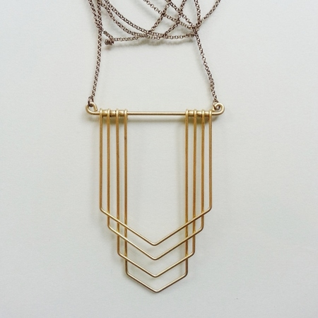 Hellbent New Deco Chevron Necklace