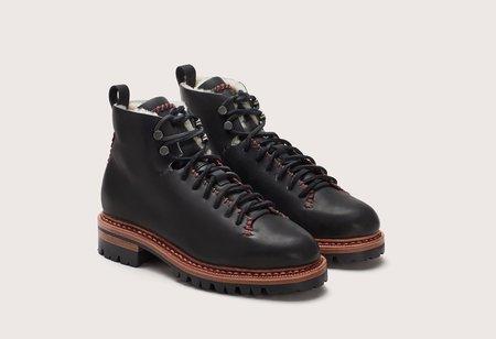 Feit Whipstitch Wool Hiker- Black/Red