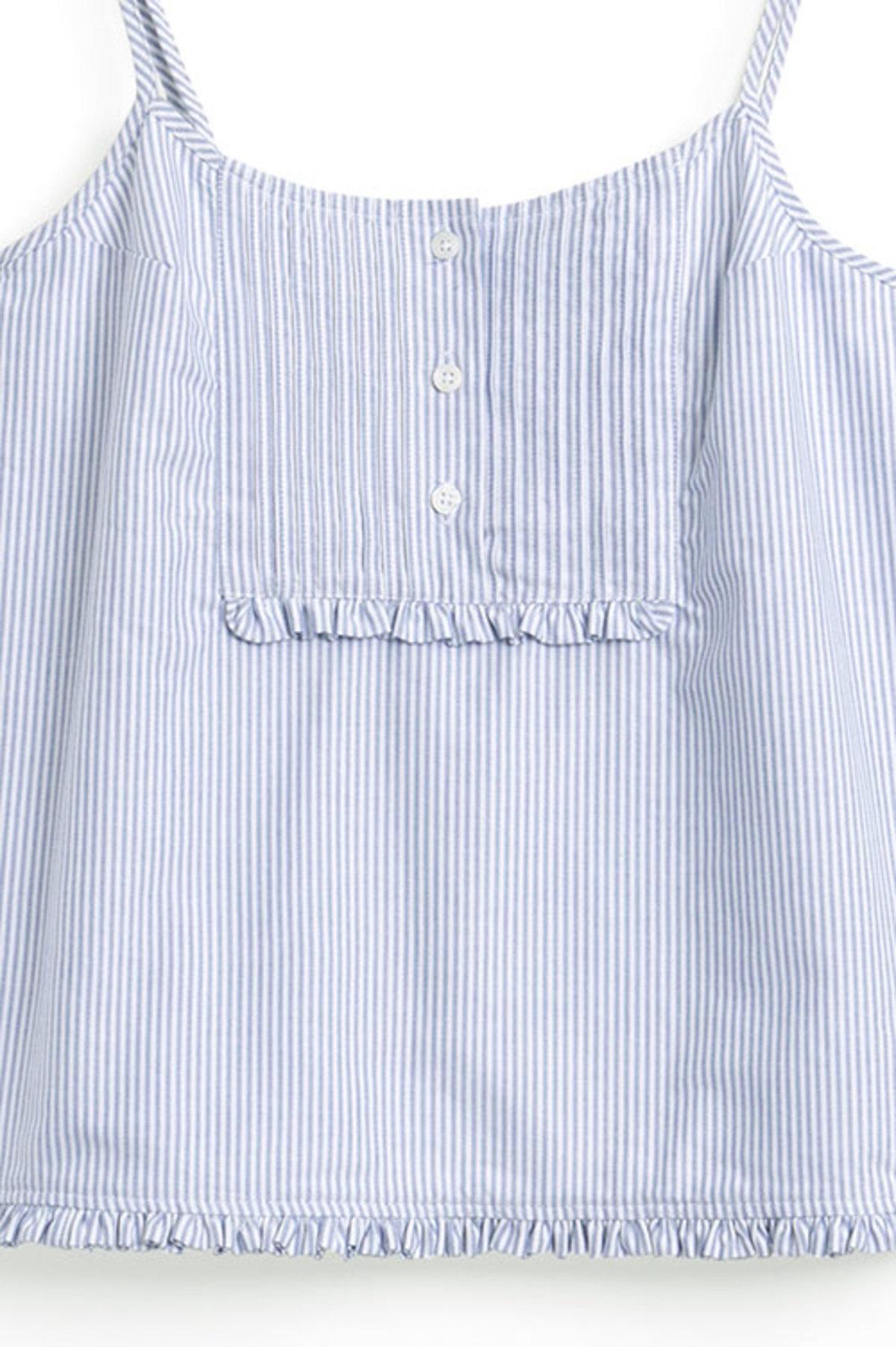 The Sleep Shirt Pink Tuck Camisole Blue Oxford Stripe  e09fae019