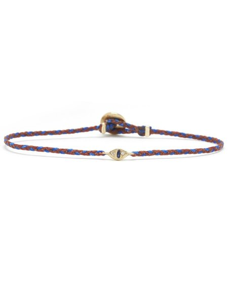 Scosha CAT EYE SIGNATURE BRACELET WITH Sapphire - Rust/Royal