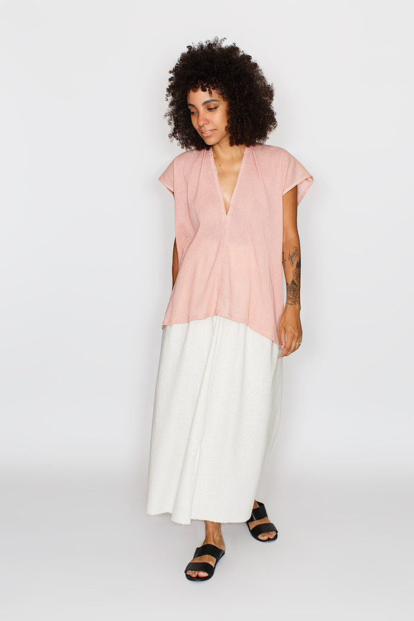 Miranda Bennett Everyday Top, Cotton Gauze in Clay
